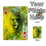 Green Mask Playing Cards 54 Designs  Front - HeartA