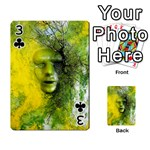 Green Mask Playing Cards 54 Designs  Front - Club3