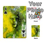 Green Mask Playing Cards 54 Designs  Front - Club4