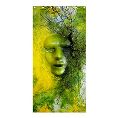 Green Mask Shower Curtain 36  X 72  (stall)