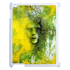 Green Mask Apple Ipad 2 Case (white) by timelessartoncanvas