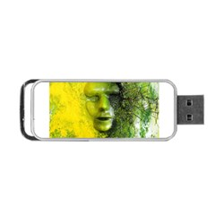 Green Mask Portable Usb Flash (two Sides) by timelessartoncanvas