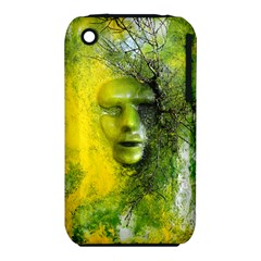 Green Mask Apple Iphone 3g/3gs Hardshell Case (pc+silicone) by timelessartoncanvas