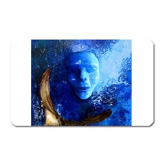 Blue Mask Magnet (rectangular) by timelessartoncanvas