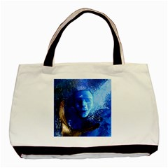 Blue Mask Basic Tote Bag (two Sides)  by timelessartoncanvas