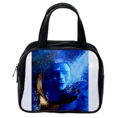 Blue Mask Classic Handbags (one Side) by timelessartoncanvas