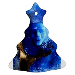 Blue Mask Christmas Tree Ornament (2 Sides) by timelessartoncanvas