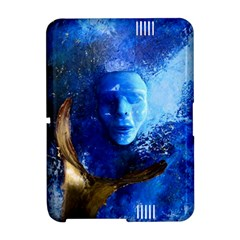 BLue Mask Kindle Fire HD Hardshell Case by timelessartoncanvas