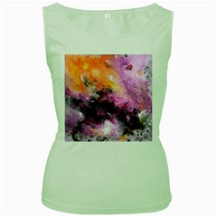 Nebula Women s Green Tank Tops by timelessartoncanvas