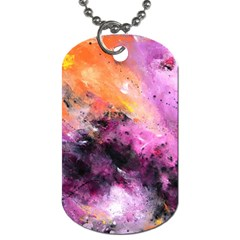 Nebula Dog Tag (two Sides) by timelessartoncanvas