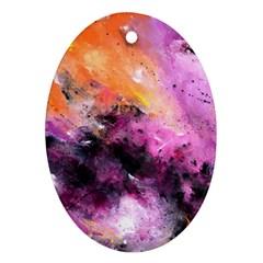 Nebula Oval Ornament (two Sides) by timelessartoncanvas