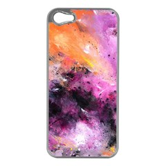 Nebula Apple iPhone 5 Case (Silver) by timelessartoncanvas