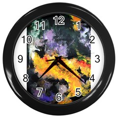 Space Odessy Wall Clocks (black) by timelessartoncanvas