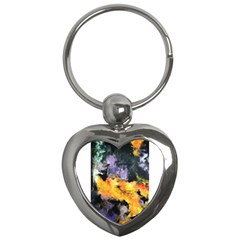 Space Odessy Key Chains (heart)  by timelessartoncanvas