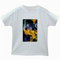 Space Odessy Kids White T Shirts by timelessartoncanvas