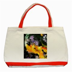 Space Odessy Classic Tote Bag (red)  by timelessartoncanvas