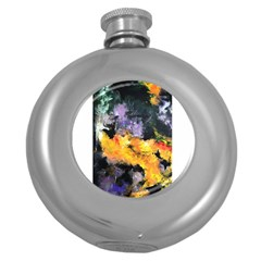 Space Odessy Round Hip Flask (5 Oz) by timelessartoncanvas