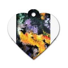 Space Odessy Dog Tag Heart (one Side) by timelessartoncanvas