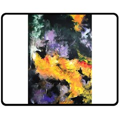 Space Odessy Double Sided Fleece Blanket (medium)  by timelessartoncanvas
