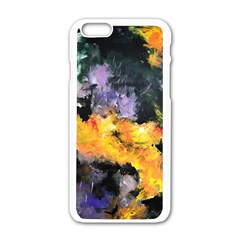 Space Odessy Apple Iphone 6 White Enamel Case by timelessartoncanvas