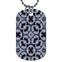 Futuristic Geometric Print  Dog Tag (One Side) by dflcprints