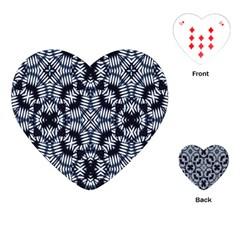 Futuristic Geometric Print  Playing Cards (heart)