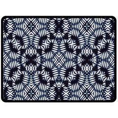 Futuristic Geometric Print  Double Sided Fleece Blanket (large)