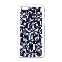 Futuristic Geometric Print  Apple Iphone 6 White Enamel Case by dflcprints