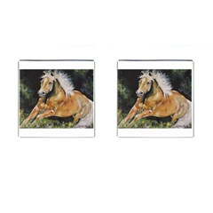 Mustang Cufflinks (square) by timelessartoncanvas