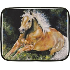 Mustang Fleece Blanket (mini) by timelessartoncanvas