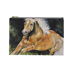 Mustang Cosmetic Bag (large)  by timelessartoncanvas