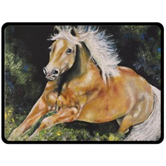 Mustang Fleece Blanket (large)  by timelessartoncanvas