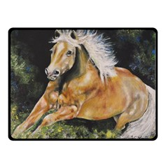 Mustang Double Sided Fleece Blanket (small)  by timelessartoncanvas
