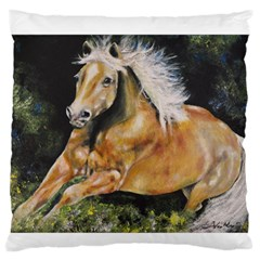 Mustang Large Flano Cushion Cases (one Side)  by timelessartoncanvas