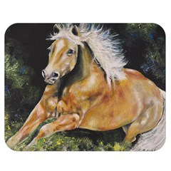 Mustang Double Sided Flano Blanket (medium)  by timelessartoncanvas
