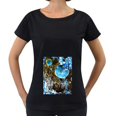 Space Horses Women s Loose Fit T Shirt (black) by timelessartoncanvas
