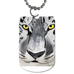 The Eye Of The Tiger Dog Tag (two Sides) by timelessartoncanvas