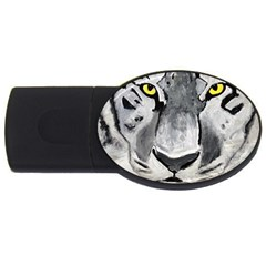 The Eye Of The Tiger Usb Flash Drive Oval (2 Gb)  by timelessartoncanvas