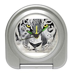 The Eye Of The Tiger Travel Alarm Clocks by timelessartoncanvas