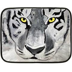 The Eye Of The Tiger Fleece Blanket (mini)