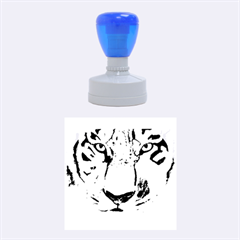The Eye Of The Tiger Rubber Round Stamps (medium) by timelessartoncanvas