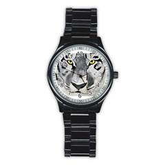 The Eye Of The Tiger Stainless Steel Round Watches