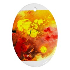 Fire, Lava Rock Ornament (oval)  by timelessartoncanvas
