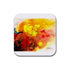 Fire, Lava Rock Rubber Coaster (square)