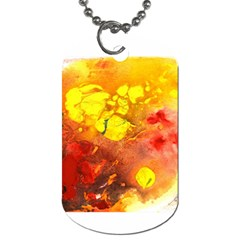 Fire, Lava Rock Dog Tag (two Sides)