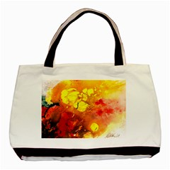 Fire, Lava Rock Basic Tote Bag (two Sides)