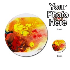 Fire, Lava Rock Multi Purpose Cards (round)
