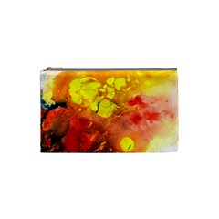Fire, Lava Rock Cosmetic Bag (small)  by timelessartoncanvas