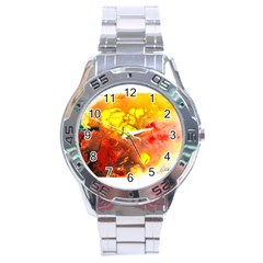 Fire, Lava Rock Stainless Steel Men s Watch by timelessartoncanvas