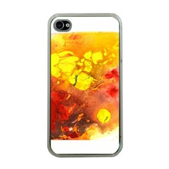Fire, Lava Rock Apple Iphone 4 Case (clear) by timelessartoncanvas
